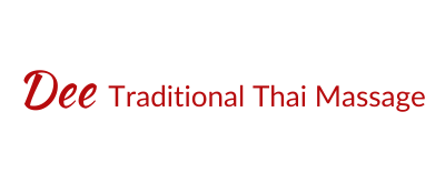 Dee Traditional Thai Massage - Logo - Red (400x156)